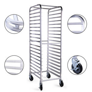 Commercial Bun Pan Bakery Rack Aluminum W wheel 20 Sheet Space saving Convenient