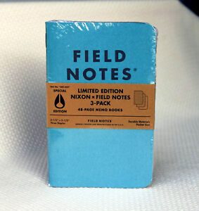 Field Notes Nixon 2015 Special Limited Edition Notebook 3 pack Made In