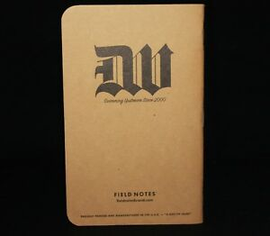 Field Notes Deathwish Inc Edition Notebook swimming Upstream Since 2000