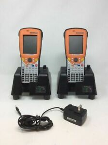 Lot Of 2 Psion Teklogix Ds 1100 Datastream Barcode Scanner W cradle 1 Charger