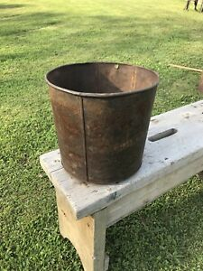 Antique Sap Buckets Heavy Uncommon Size Rustic Country Primitive Maple Syrup