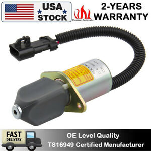 12v Fuel Shut Off Solenoid Switch Fits Skid Steer Loader751 753 763 773 7753 Us