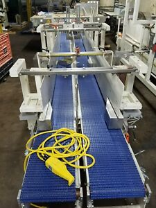 Steel 15 L X 11w X2 Conveyor With Plastic Belt Diverter