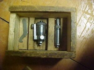 Vintage Brown And Sharpe Inside Micrometer No 263 With Original Wooden Box
