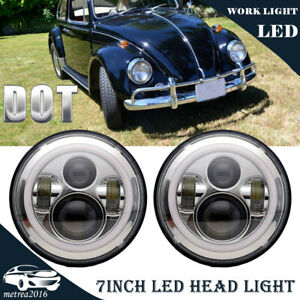 Led Headlamp Headlights Chrome Upgrade Drl Light Kit For Vw Beetle Classic