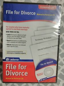 Adams File For Divorce Cd Manual And Forms On Cd alc601