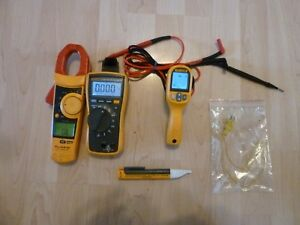 Fluke 116 902 59max Hvac Multimeter Clamp Meter Ir Thermometer Volt Ale