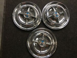 1956 Dodge Satellite Hubcaps Wheel Covers 15 Spinners Factory Set Of 3 de56swc