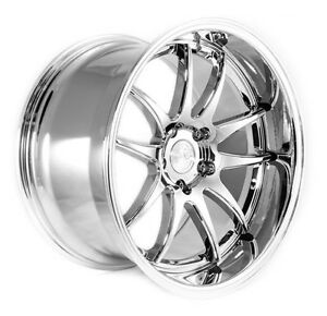 Aodhan Ds02 Rims 18x9 5 18x10 5 22 5x114 3 Vacuum Chrome Staggered set Of 4