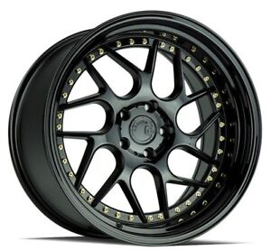 Aodhan Ds01 19x9 5 15 19x10 5 22 5x114 3 Gloss Black Staggered set Of 4