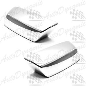 For Chevy Silverado Gmc Sierra Chrome Side Mirror Top Half Cover Covers 2014 Us