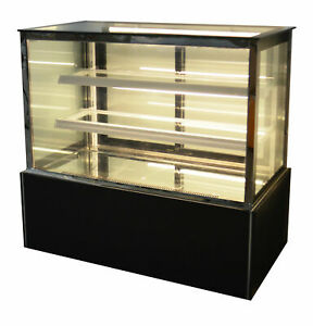 48 Refrigeratted Bakery Showcase Cake Pie Donut Display Case 220v Cabinet New
