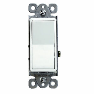 Single Pole Light Switch 15a Decorator Rocker White Lot Of 100