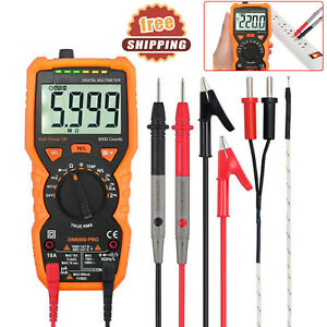 6000counts Digital Multimeter Lcd Auto Range True Ac dc Volt Temp Multi Tester