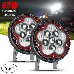 5 6 Car Led Light Bar Cree Driving Fog Lights For Offroad Jeep Truck 55w 4950lm