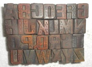 Letterpress Letter Wood Type Printers Block a To Z Block Size 20 M m My3883