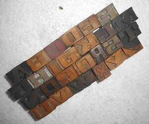 Letterpress Letter Wood Type Printers Block a To Z Block Size 16 M m My3885