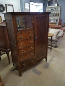 Antique Wardrobe With Original Skeleton Key