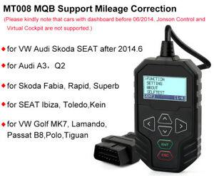 Obdprog Mt008 Obd Mileage Correction Tool For Vag Audi Skoda Seat Vw