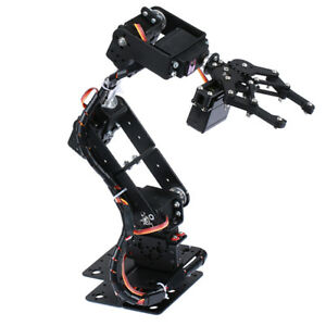 Hot Smart Robot 6 dof Servo Control Mechanical Arm For Arduino Science Toy