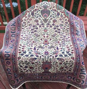Very Old Antique Oriental Prayer Rug In Excellent Thin Condition