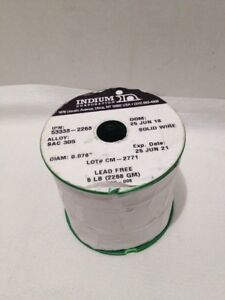 Indium Corporation Solid Wire Diam 0 078 Alloy Sac 305 5lbs Lead Free