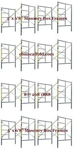 Cbm Scaffold Eight Set Snap On Lock 5 X 6 8 X 7 Masonry Scaffolding Frame Set