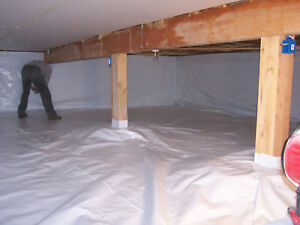 5000sqft Reinforced Vapor Barrier 4ftx1250ft Encapsulation Pier Wrap Crawlspace