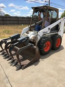 Bobcat 753 Skid Steer Loader With Grapple Diesel With New Tires And Rims