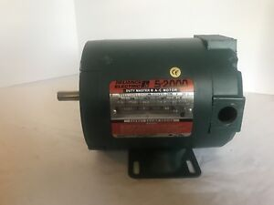 Reliance Electric S 2000 P56h1020t 1 2 Hp 1725 Rpm Refurbished Motor