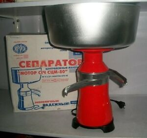 Milk Cream Electric Centrifugal Separator Metal 100l h New