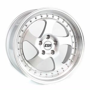 Esr Sr02 18x10 5 22 5x120 Machined Face Non staggered Squared set Of 4