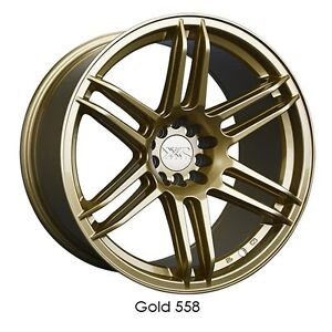 Xxr 558 18x8 75 36 5x114 3 5x100 Gold Tl Civic Rsx Tc Lancer Frs Impreza Accord