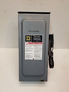 Square D Fused 600v 30a Dc Disconnect H361rb Heavy Duty Safety Switch