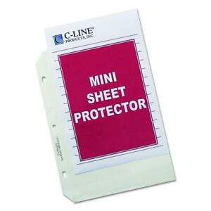 C line Top Loading Heavyweight Poly Sheet Protectors Clear Mini Size 8 5