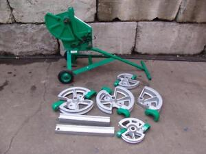 Greenlee 1818 Mechanical Bender 1 2 2 Emt Imc Rigid 5 Shoes 2 Follow Bars 1
