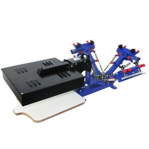 3 Color Screen Printing Press Machine With Rotary Dryer Micro registration Color