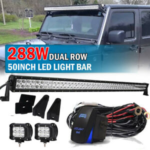 1993 98 Jeep Grand Cherokee Zj 4 18w Pods Cube 288w 50 Led Light Bar Us
