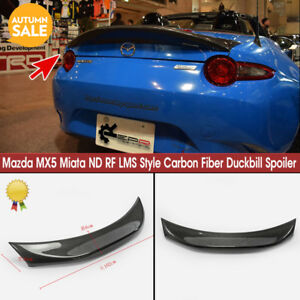 Lms Style Carbon Rear Trunk Duckbill Spoiler Wing Lip For Mazda Mx5 Miata Nd Rf
