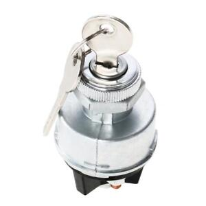Universal Ignition Switch 2 Keys For Car Tractor Trailer Agricultural