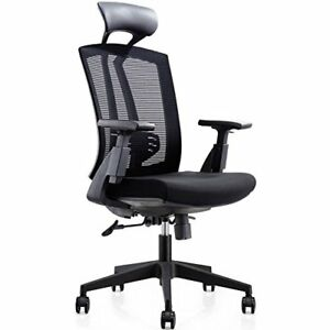 Cmo High Back Office Ergonomic Chair With Leather Headrest And Pu Armrest