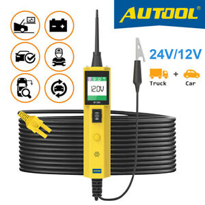 Car Electric Circuit Tester 12v 24v Power Probe Diagnostic Tool Battery Tester
