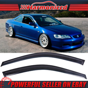 Fits 98 02 Honda Accord Coupe Slim Type Acrylic Window Visors 2pc