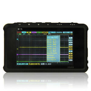 Dso203 Oscilloscope Mini 4 Channels Digital Hot Black Pocket Portable New E7s0u