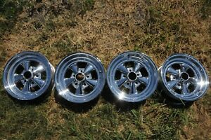 Vintage Cragar Rims 15x7 Set Of Four For Your Antique Muscle Car Hot Rod Gasser