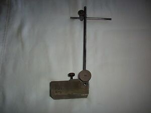 Vintage Machinist Surface Gauge Indicator Stand Non magnetic Base