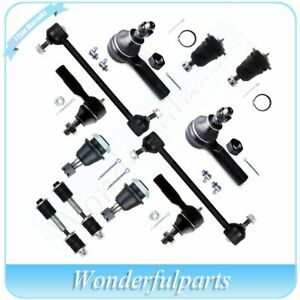 12pc Front Rear Suspension Kit Ball Joints Sway Bar For 00 04 Nissan Xterra