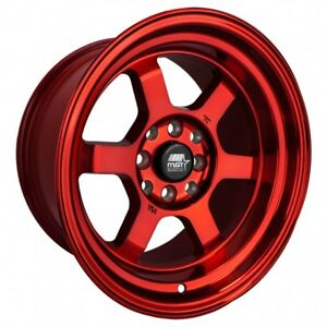 Mst Time Attack 15x8 0 4x100 4x114 3 Ruby Red set Of 4