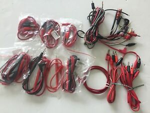 10 Lot Test Lead Cables Probes Etc For Digital Multimeters 7 New