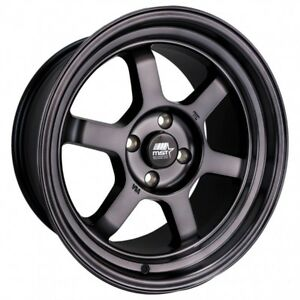 Mst Time Attack 16x8 20 4x100 Smoked Black set Of 4